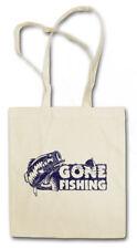 Gone fishing Shopper Shopping Bag Fisher rod pole sea River line Fish