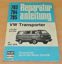 VW Transporter T3 Bus 1,6l 2,0l ab Juni 1978 T3 Reparaturanleitung B783