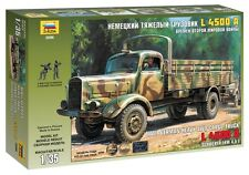ZVEZDA 3596 GERMAN HEAVY 4WD CARGO L-4500A WWII TRUCK  SCALE MODEL KIT 1/35
