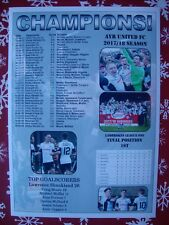 Ayr United Scottish League One champions 2018 - souvenir print