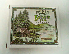 Paine's Natural Balsam Fir Incense Cones: Box of 32 with Holder / Burner