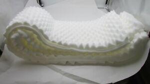 FULL SIZE 2 Inch Foam Pad Mattress Eggcrate Overlay Topper WHITE NWOT