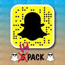 "Snapchat Snapcode QR Code 14 PACK 1.5"" Custom Vinyl Decal Sticker JDM Snap SLAP"