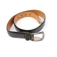 Vtg Brighton 47103 Belt Womens Black Leather Solid Brass Western Usa Designer