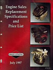 Briggs/ Stratton Replacement Engine Specificatio Manual