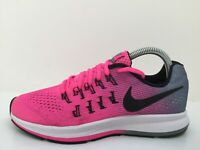 Nike Zoom Pegasus 33 Pink Textile Trainer 834317-600 Women Siz UK 5 Eur 38
