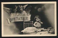 Cartolina Postcard - BUON NATALE Happy Christmas - VG anni '30 Bambini Angeli