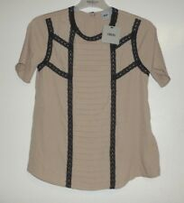ASOS Blouse With Pintucks And Contrast Lace Trims Mink size UK 8 Box12 07 i