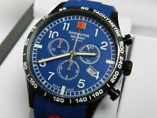 Swiss Alpine Military Chronograph Blue ,Blk PVD case, Sapphire crystal, NEW