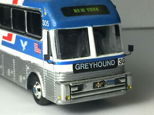 Custom Built Modern Greyhound Bus nicely detailed Only One I Have HO 1:87 Scale
