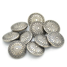 10 Pcs DIY Sewing Fastener Flower Pattern Shank Buttons Metal Hand Craft 23mm