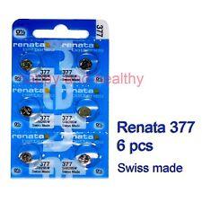 Renata (SR626SW) 377 Silver Oxide coin button watch Battery x 6 pcs FREE Post