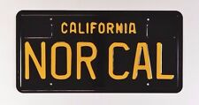 Nor Cal CALIFORNIA Metal License Plate Sign Black Yellow NEW