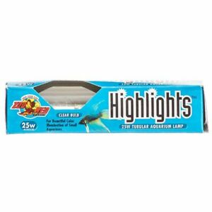 LM Zoo Med Highlights Aquarium Lamp - Clear (25 Watts)
