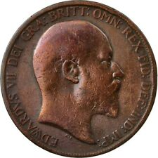 [#438444] Coin, Great Britain, Edward VII, Penny, 1902, VF(20-25), Bronze