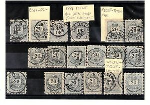 Hungary 1881 gray 20kr.stamps used with good town cancels. 18 diff., see scan