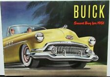 1951 Buick 8 Special 40 44 Super 50 Roadmaster 70 Specs Sales Brochure Original