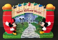 Walt Disney World Parks Photo Frame Mickey Minnie Mouse Welcome Gate Authentic