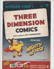 Three Dimension Comics #1 VG 4.0 St John Mighty Mouse 3-D Missing Space Goggles