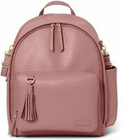 Skip Hop GREENWICH SIMPLY CHIC BACKPACK CHANGING BAG - DUSTY ROSE Baby Bag BN