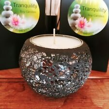 Mosaic Glass Soy Candle Gift Boxed 38hrs - Choose your scent