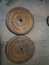 2 Standard Barbell 25lb Weight Plates Pair*