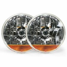 Tri-Bar 7 Inch Halogen Lens Assembly With Amber Turn Signal Pair rat rods