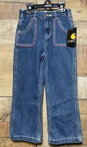 Carhartt Girls 4T Five Pocket Boot Cut Jeans Modern Fit Adjustable Waist Pants