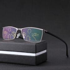 Transition photochromic progressive multifocal anti blue light reading glasses