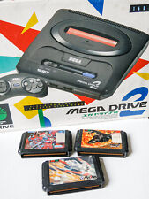 Sega Megadrive 2 Japan Boxed Games Console Pad RGB Scart Lead Psu 3 Games Tested