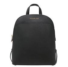 Michael Kors Emmy Saffiano Leather Large Backpack - Black