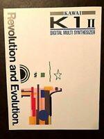 KAWAI K1 ll DIGITAL MULTI SYNTHESIZER 1989 ORIGINAL COLOR BROCHURE WITH SPECS