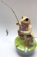 New ListingSchmid Beatrix Potter Frog Musical Figure Jeremy Fisher Music Box Lazy River
