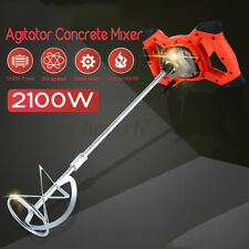 2100w Drywall Mortar Mixer Cement Render Paint Tile Concrete Plaster Rotary Q