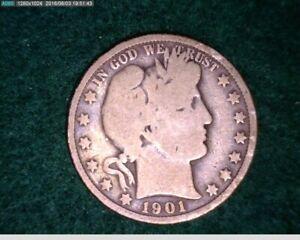 1901 Barber Half Dollar ( 33-167 6m1 )
