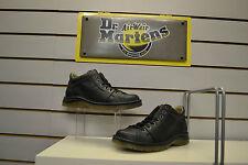 Dr Martens Zak 7-Eyelet Black Leather Boots UK Size 9.5 EU 44