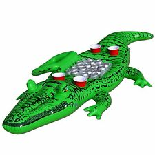 The Party Gator Large Inflatable Floating Pool Drink Cooler Alligator Crocodile