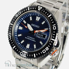 SEIKO PROSPEX PRO DIVERS AUTOMATIC PEARLESCENT BLUE FACE SRP493K1 SRP493