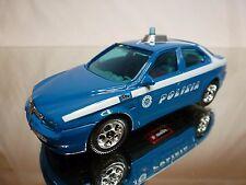 BBURAGO ALFA ROMEO ALFA 156 - POLIZIA - POLICE - BLUE 1:43 - GOOD CONDITION