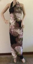 Karen Millen Limited Editions Maxi Formal Dress Size 10 Pink/Multi Wedding