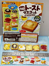 Miniatures The Toast Mascot Keychain, 6pcs + Display Card - Re-ment Gashapon