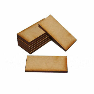 RECTANGLE 80mm x 60mm NATURAL MDF BASES for Roleplay Miniatures