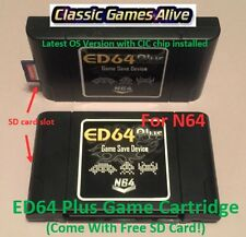 ED64 Plus Game Cartridge - Latest Nintendo N64 (Pokemon Stadium, Mario Kart 64)
