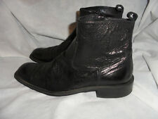 KENNETH COLE MEN'S BLACK LEATHER ZIP UP ANKLE BOOT SIZE UK 9 EU 43 US 9.5 M VGC