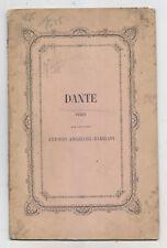 DD501-DANTE-VERSI DEL CAV.ANTONIO ANGELONI BARBIANI