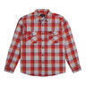 Brixton - Bowery L/S Flannel Shirt - Red/Grey SALE