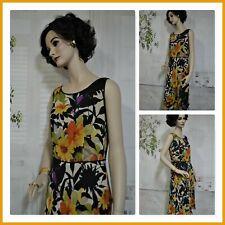 TALBOTS dress SILK dramatic floral design SIZE 8 below knee