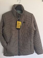 2017 NWT Womens UA Under Armour Reactor Jacket S Small Taupe sx84