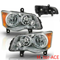 MOTOR-ACE Headlights Fit For 11-18 Dodge Grand Caravan 08-16 Town & Country Pair