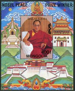 MONGOLIA:1994 Souvenir Sheet Dalai Lama's winning Nobel Peace Prize